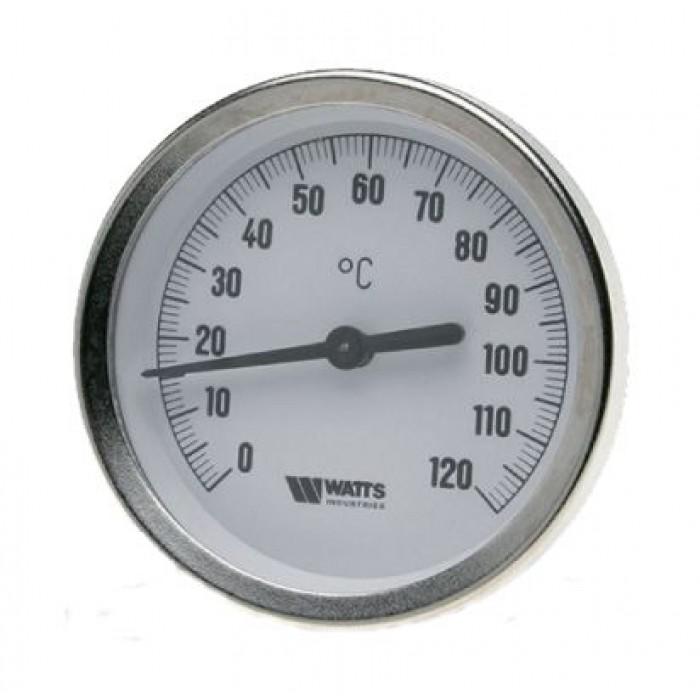 Термометр біметалічний Watts T63/50 (F + R801 OR 63mm 0-120 °C)
