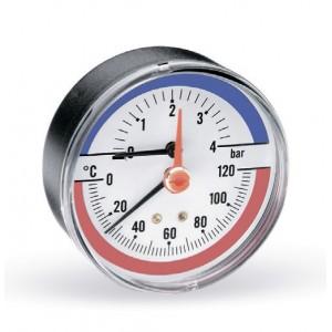 Термоманометр WATTS F+R818 (80 мм, 0-4 бар, 0-120 °С)