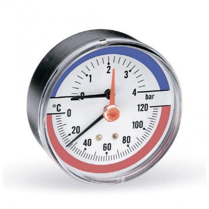 Термоманометр WATTS F+R818 (80 мм, 0-6 бар, 0-120 °С)