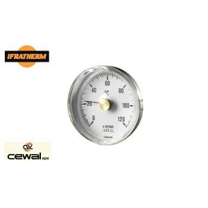 Термометр біметалічний  накладний  Cewal BRC 63 VI (ø63 0/120 ⁰C)