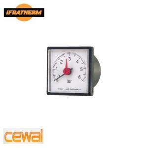 "Манометр з виносним датчиком Cewal IQ 37 P (37x37, 1/4"", 0-6 bar, 1500mm)"