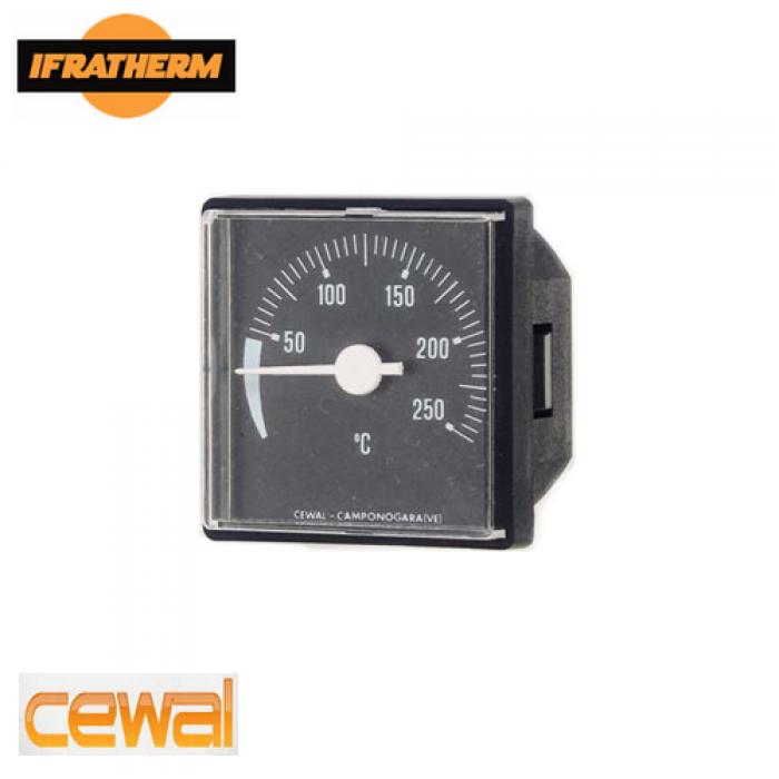 Термометр з виносним датчиком Cewal TQ 45 P (45x45mm, 0/120 ⁰C, L-1500mm)