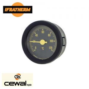 Термометр з виносними датчиками Cewal T 52 P (52 мм, 0/120°C, 0-4 бар, 1500мм)