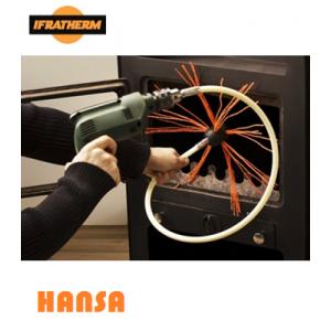 Комплект Tornado для чищення димоходу з щіткою HANSA