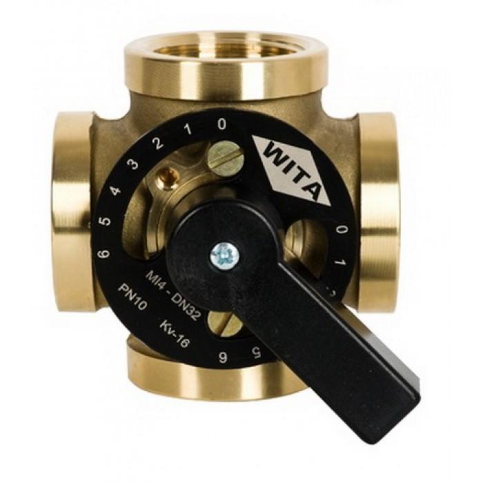 """Чотирьохходовий термозмішувальний клапан Hel-Wita Minimix MI 4*1"""""""