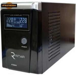 Джерело безперебійного живлення Ritar RTSW-600D12 (LCD) з правильною синусоїдою